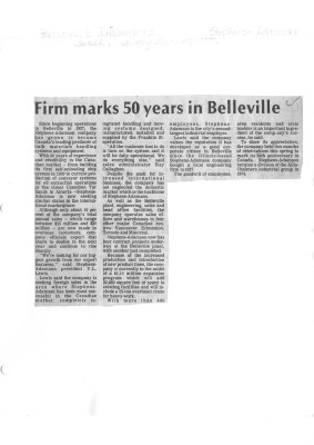 Firm marks 50 years in Belleville