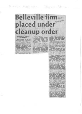 Belleville firm placed under cleanup order