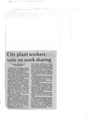 City plant workers vote on work sharing
