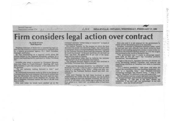 Firm considers legal action over contract