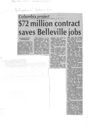$72 million contract saves Belleville jobs