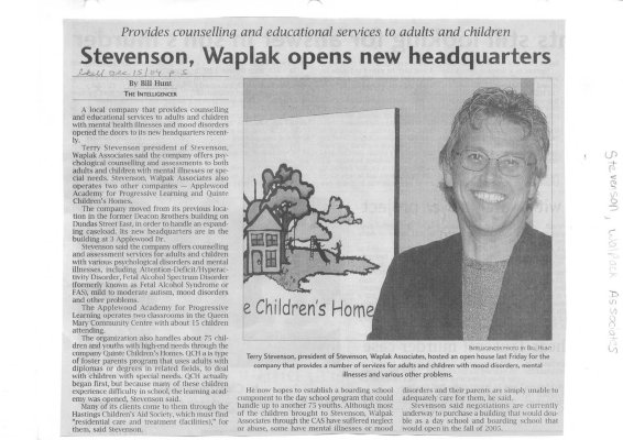 Stevenson, Waplak opens new headquarters