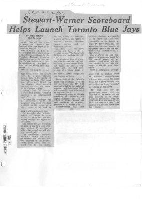 Stewart-Warner Scoreboard Helps Launch Toronto Blue Jays