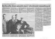 Belleville firm unveils Jays' electronic scoreboard
