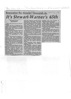 Remember the Alemite? Thousands do: It's Stewart-Warner's 65th