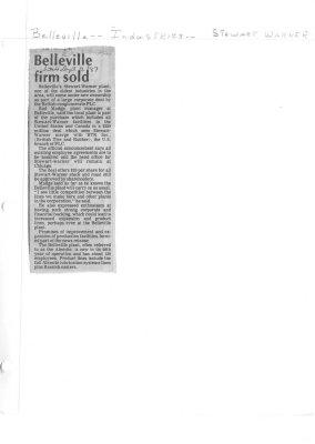 Belleville firm sold