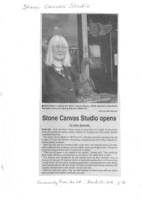 Stone Canvas Studio opens