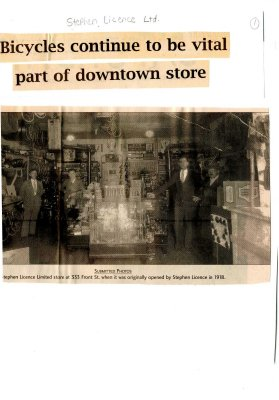 Bicycles continue to be vital part of downtown store