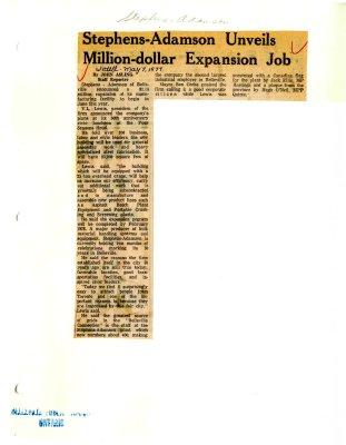 Stephens-Adamson Unveils Million-dollar Expansion Job