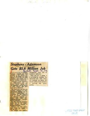 Stephens-Adamson Gets $5.8 Million Job