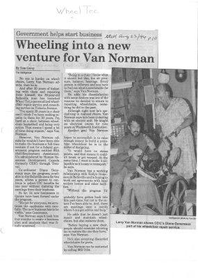 Wheeling into a new venture for Van Norman