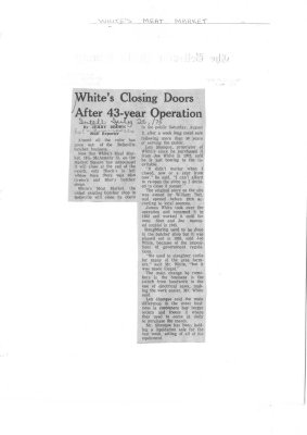 White's Closing Doors After 43-year Operation