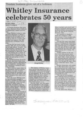 Whitley Insurance celebrates 50 years