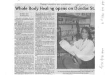 Whole Body Healing opens on Dundas St.