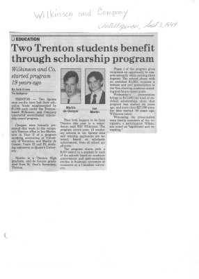 Two Trenton students benefit through scholarship program