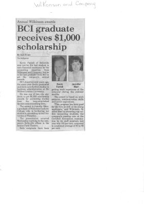 BCI graduate receives $1,000 scholarship