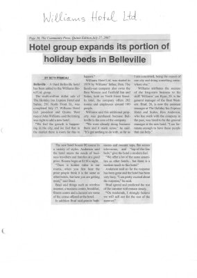 Hotel group expands its portion of holiday beds in Belleville