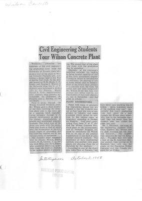 Civil Engineering Students Tour Wilson Concrete Plant