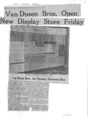Van Dusen Bros. Open New Display Store Friday