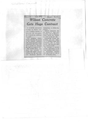 Wilson Concrete Gets Huge Contract