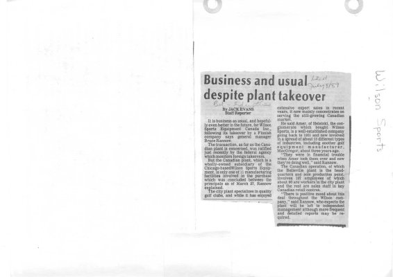 Business and usual despite plant takeover