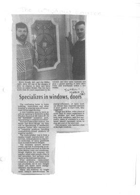 Specializes in windows, doors