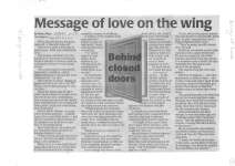 Message of love on the wing