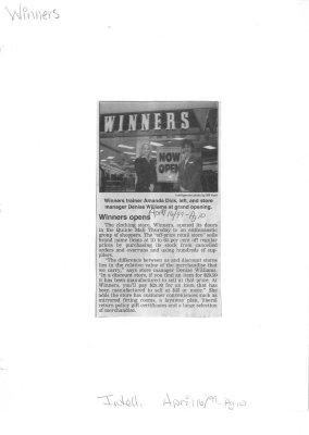 Winners opens