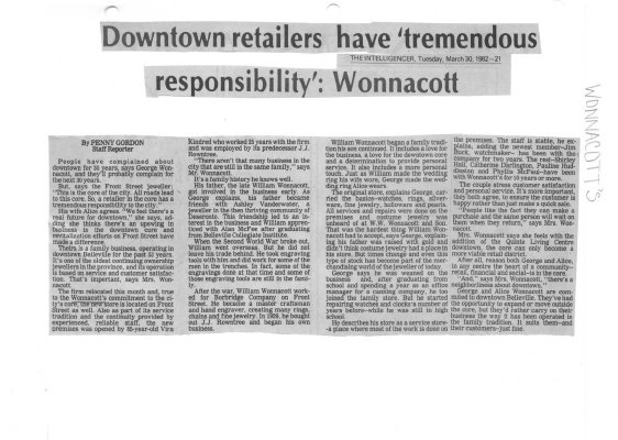 "Downtown retailers have ""tremendous responsibility"": Wonnacott"