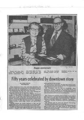 Fifty years celebrated by downtown store