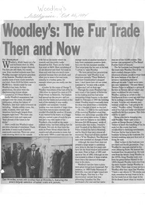Woodley's: The Fur Trade Then and Now