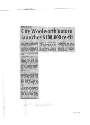 City Woolworth's store launches $100,000 re-fit