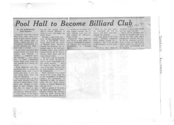Pool Hall to Become Billiard Club