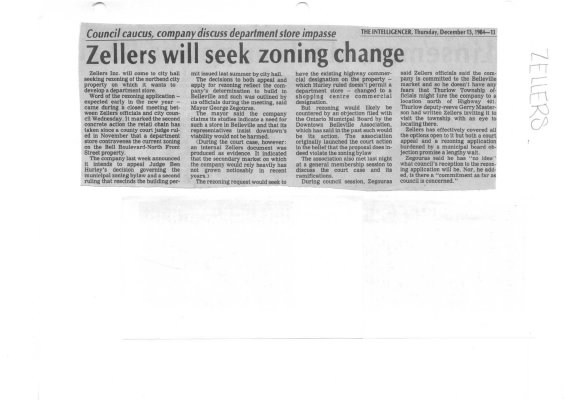 Zellers will seek zoning change