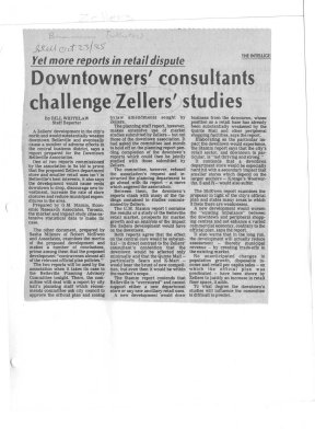 Downtowners' consultants challenge Zellers' studies