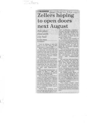 Zellers hoping to open doors next August