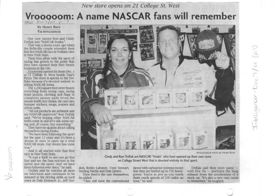Vrooooom: A name NASCAR fans will remember