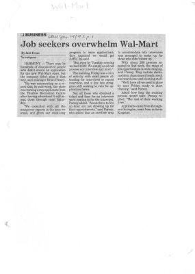 Job seekers overwhelm Wal-Mart