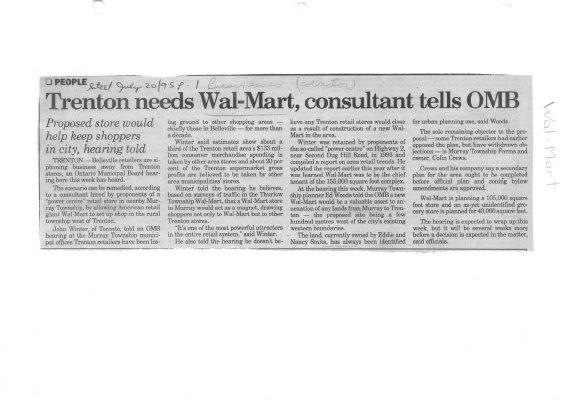 Trenton needs Wal-Mart, consultant tells OMB
