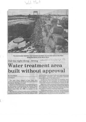 Water treatment area built without approval