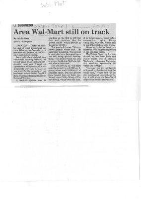 Area Wal-Mart still on track