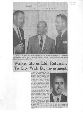 Walker Stores Ltd. Returning To City With Big Investment