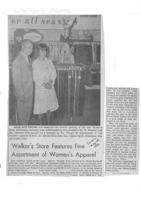 Walker's Store Features Fine Assortment of Women's Apparel