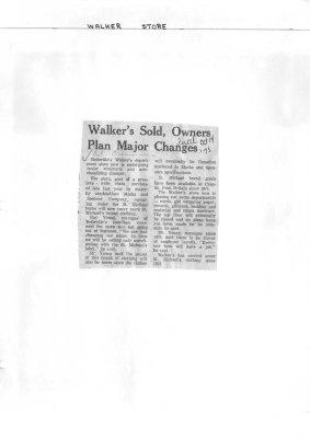 Walker's Sold, Owners Plan Major Changes