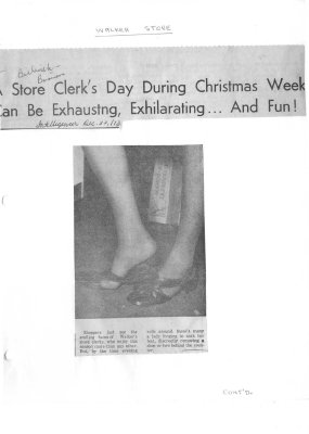 A store Clerk's Day During Christmas Week Can Be Exhausting, Exhilarating...And Fun!