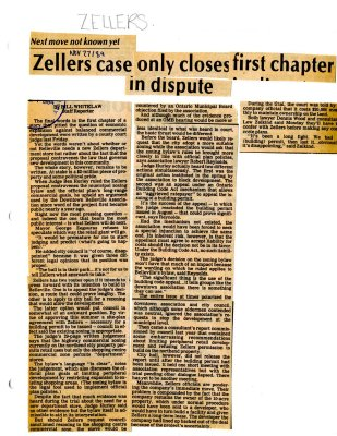 Zellers case only closes first chapter in dispute