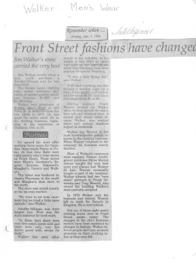 Front Street fashions have changed