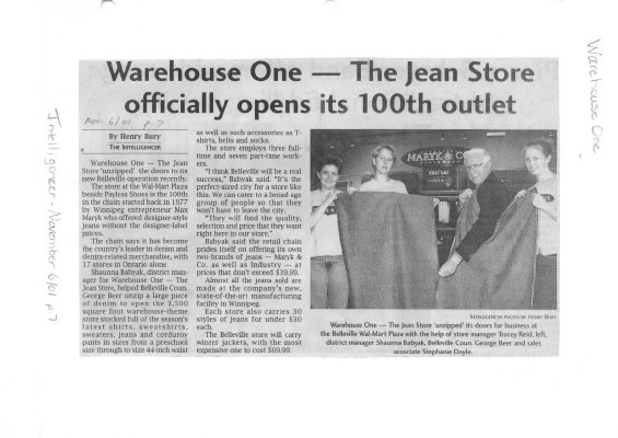 Warehouse One - the jean store officially opens its 100th outlet