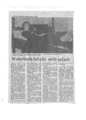 Waterbeds hit city with splash