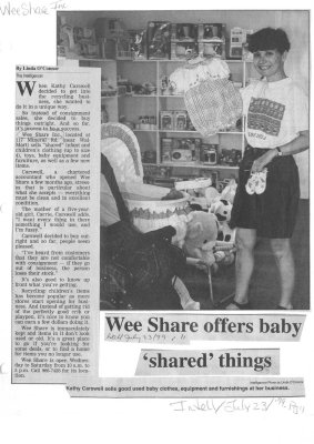 "Wee Share offers baby ""shared"" things"
